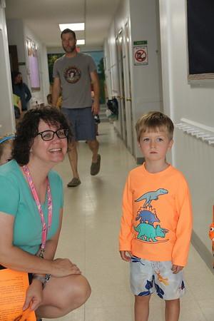 Elliot & camp teacher Leah