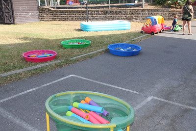 water play ready for the children
