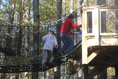 Aaron on the rope bridge