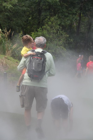 Into the Mist at the Museum of Life & Science - Elliot wanted Granddad to hold him