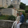 Chris and Mum at Chateau de Verteuil