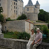 Mum and Dad at Chateau de Verteuil