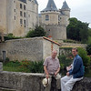 Dad and Chris at Chateau de Verteuil