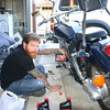 Zen and the Art of Motorcycle Maintenance... Gettin' ready for the long ride home!