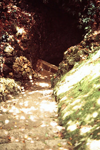 Castle Ruins - Stone stairway