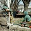 1971-04 - Randy & Jeff in Moville back yard