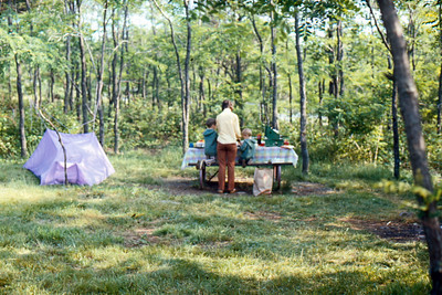 1971-06 - Camp site in Blue Ridge Mountains VA