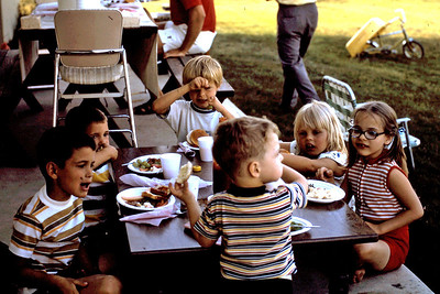 1973-07-04 - Back yard picnic