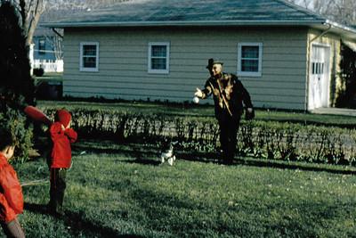 1973-09 - Playing ball with Grandpa John