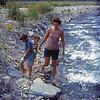 1973-09 - Randy, Jeff & Jo in Spearfish Creek, SD