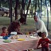 1973-09 - Randy, Jo, Opal, Jeff at Lake Oakwood, SD