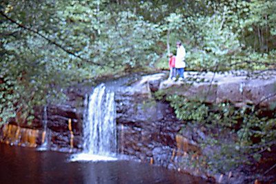 1974-09 - Hinkley State Park, MN waterfall
