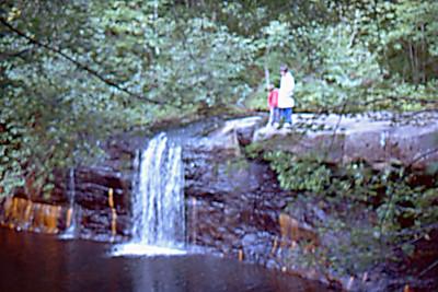 1974-09 - Hinkley State Park, MN waterfall