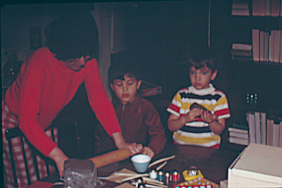 1974-02 - Fun with clay - Jo, Randy, Jeff