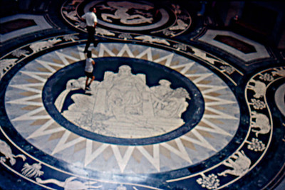1973-09 - Rotunda floor at Nebraska State Capital building