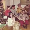 1974-01-07 - Front: Debbie Beatty with Jefffrey, David Beatty; back: Jo, Dwaine, Grandma Opal, Grandpa John holding Randy
