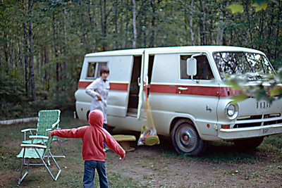 1974-09 - Camping at Hinkley State Park, MN - Randy & Jo