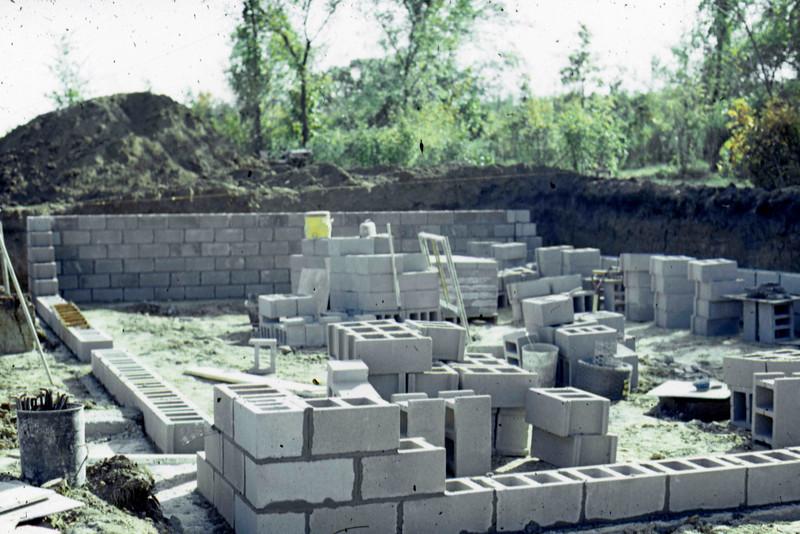 1974-10 - Basement walls from NE corner