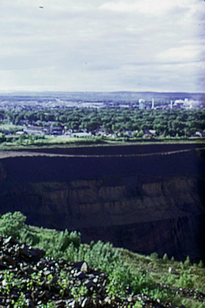1974-09 - Town seen from open pit iron mine
