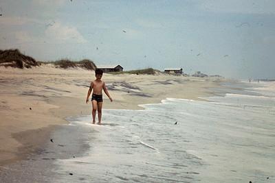 Jeff walking at Outer Banks shore, NC