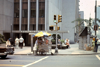 New York City scene with street vendor