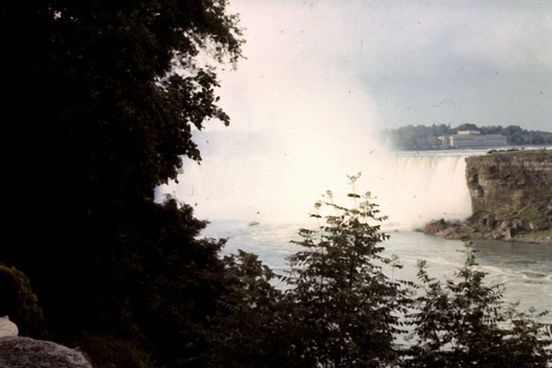 Niagra Falls view from side