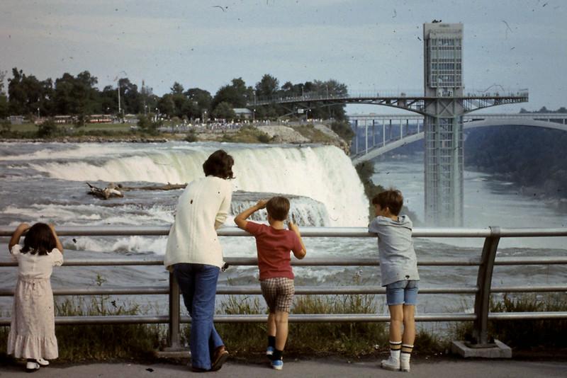 Jo, Jeff, Randy look at Niagara Falls