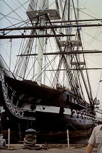 Old Ironsides in Boston Harbor