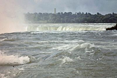 Niagara Falls close up at edge