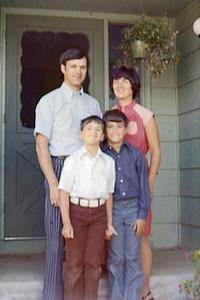 1977-08 - On steps of Eden Prairie home