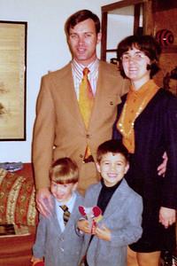 1972-12 - front: Jeff & Randy; back: Dwaine & Jo