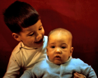 1969-12 - Randy, 24 mo, & Jeff, 6 mo.