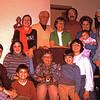 Back: Beatty girl, Harold & Nina Beatty, Dick & Evie Beatty with baby, John & Opal Beatty. front:  Dwaine & Randy Voas, Beatty girl behind, Eda Beatty with dog, Jeff & Jo Voas