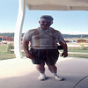 1969-08 - John at funny mirror of Reptile Gardens, SD