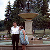 1970-07 - Ken and Ollie Anderson at Lake Harriet rose garden.
