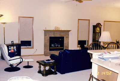 Great room seen from kitchen dining area