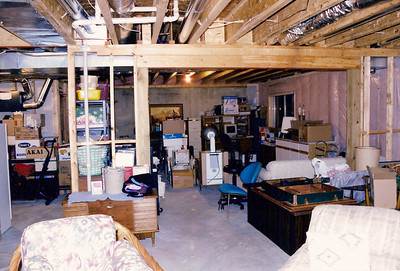 Lower level - looking from sitting area - - utility room on left
