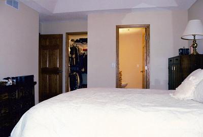 Master bedroom looking from windows