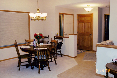 Dining area and front door