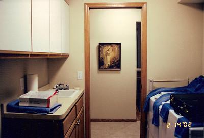 Utility room from garage entry door