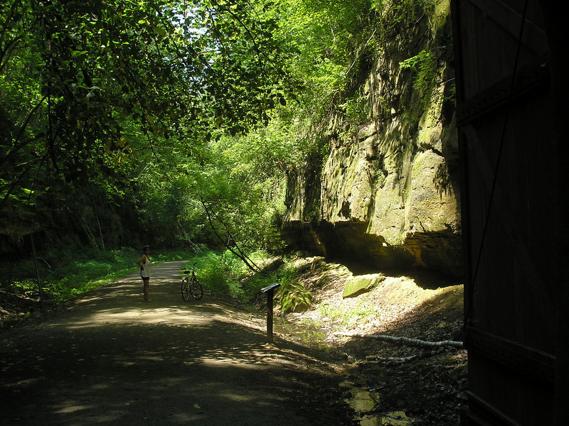 North side of Tunnel 1 - Elroy-Sparta trail