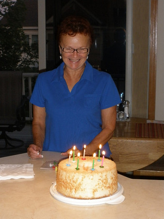 2009-09-04 - Vadis & her cake for 70th birthday