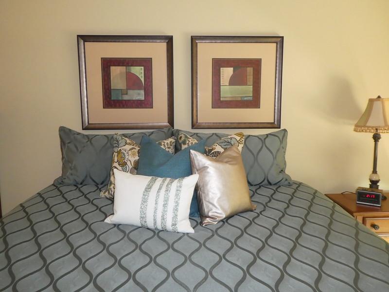 Master BR. Pillows
