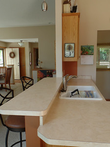 Counter between great room and kitchen