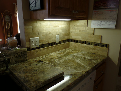 Kitchen - next to sink - grouted
