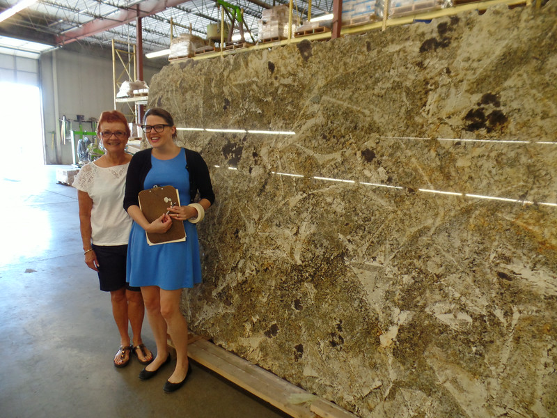 Vadis and Samantha of Grazzini Brothers with Crazy Horse slab