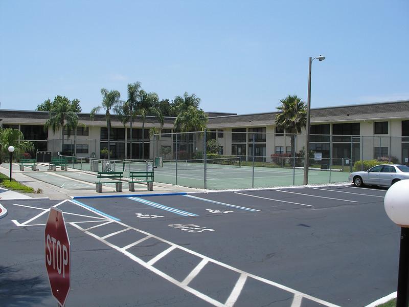 Shuffle Board and Tennis Court