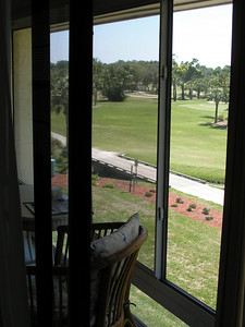 View from master bedroom and through Florida room windows