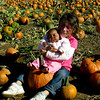 Posing with the pumpkins