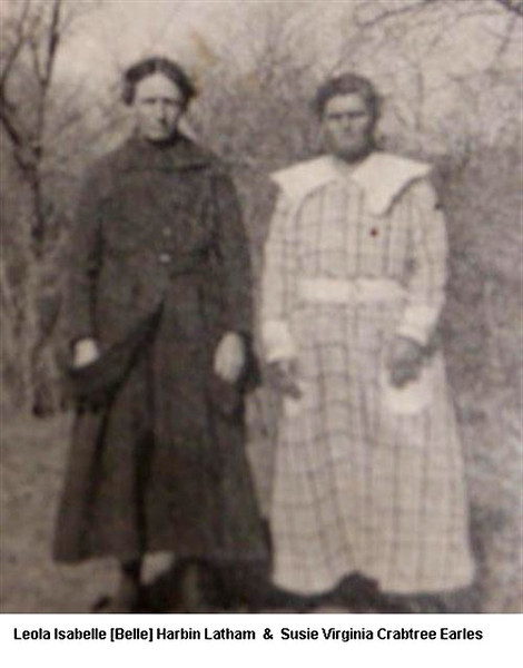 Great Grandmas Latham and Earles. Probably at Grandma/Grandpa Earle's Wedding
